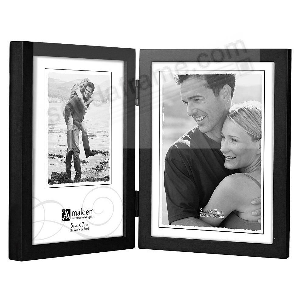 Double Portrait hinged black CONCEPTS wood frame by Malden®