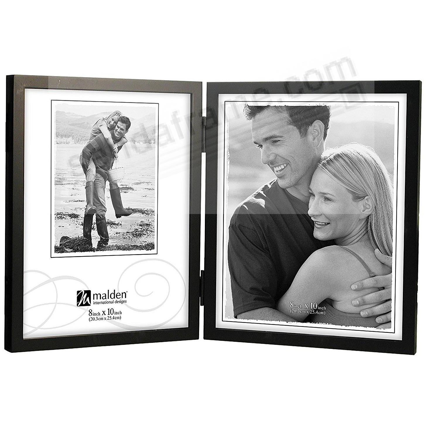 Double Portrait Hinged Black CONCEPTS wood 8x10 frame by Malden®