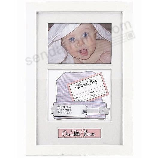 Baby ID BRACELET + BIRTH-RECORD White frame (with pink and blue ...