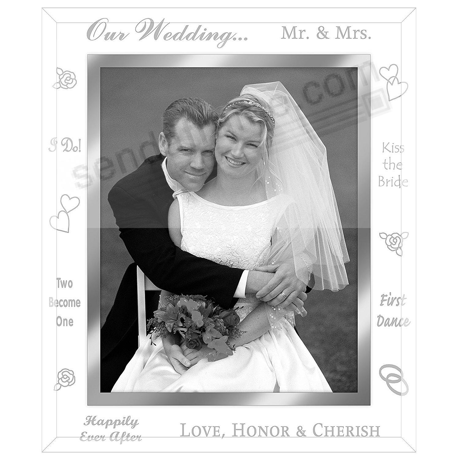 Clear Expressions OUR WEDDING Glass Keepsake Frame - Picture Frames ...