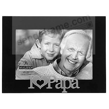 i heart papa ebony black keepsake frame
