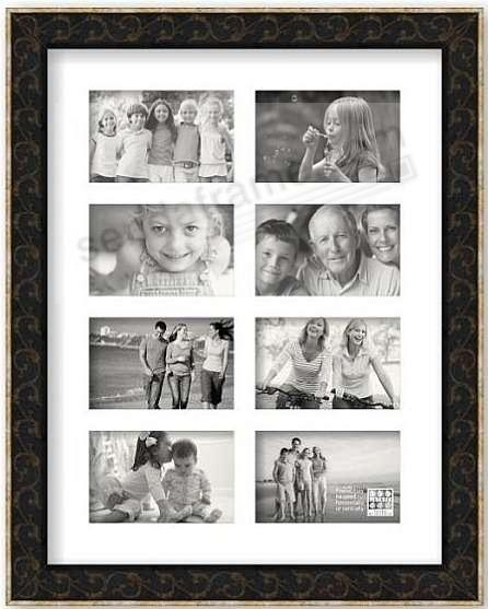 BROWN GOLD SCROLL pre-mat for (8) 4x6 prints by Sixtrees® - Picture ...