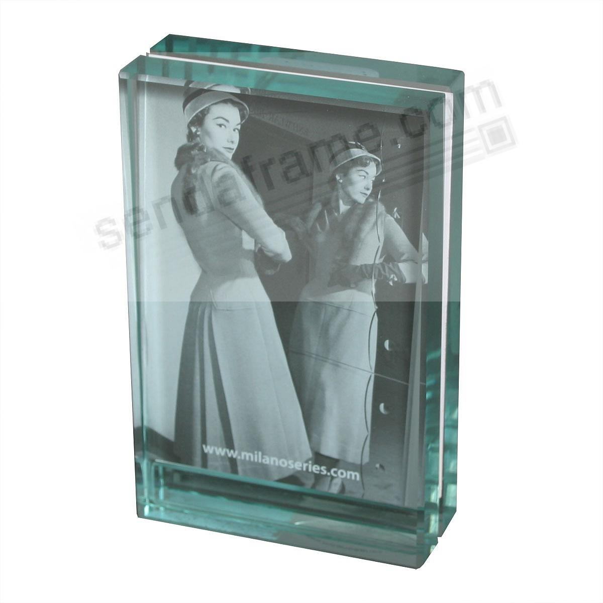 CLARITY Glass Block 2½x3½ frame by Milano Series® - Picture Frames ...