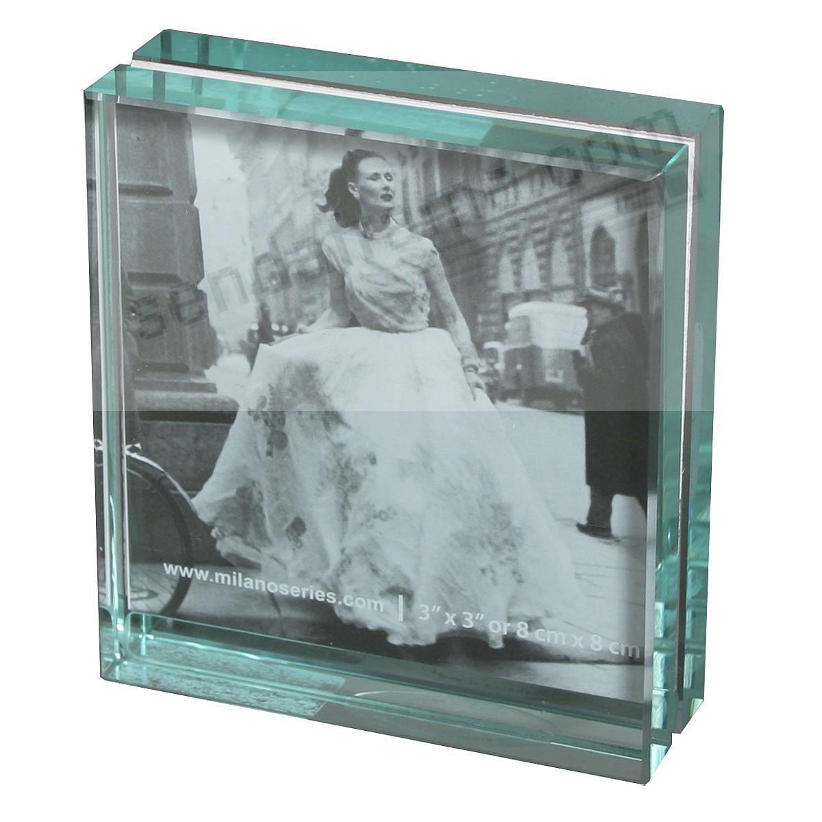 clarity glass block frame by milano series