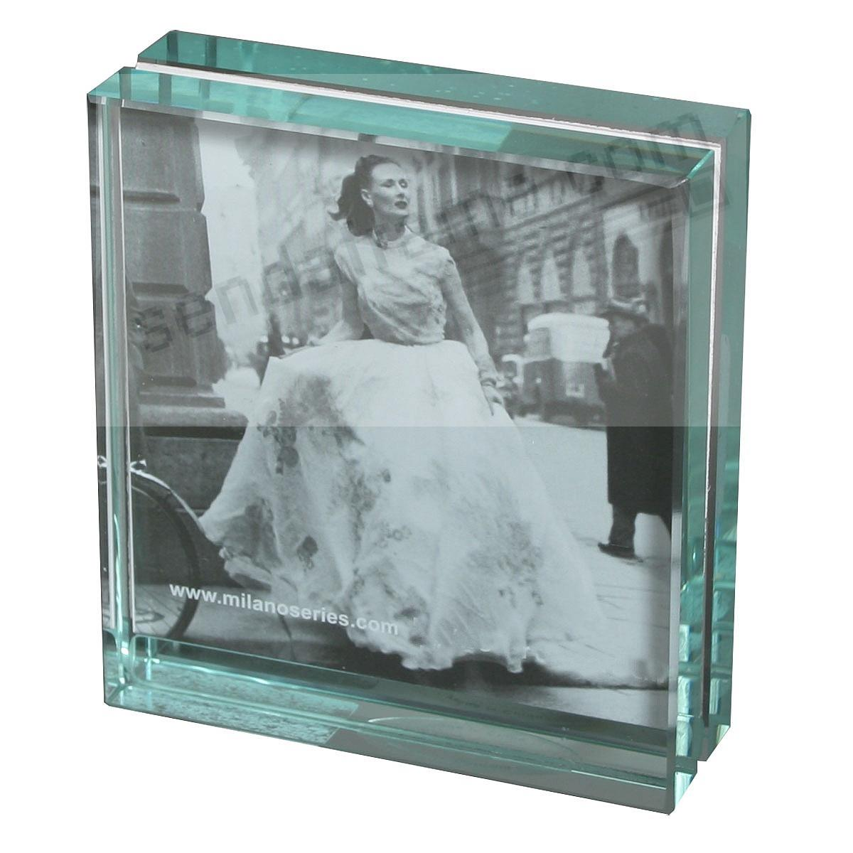 CLARITY glass mini-block frame by Milano Series - Picture Frames ...