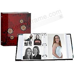 CAROLINA RED print 3-ring album<br>w/EZ-stick magnetic pages