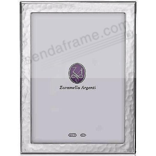 DUBLIN hammered sterling silver 5x7 frame by Zaramella Argenti®