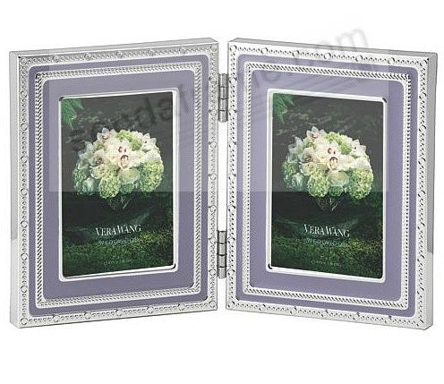 Silver Plate Lavender With Love Folding 2x3 Frame By Wedgwood For