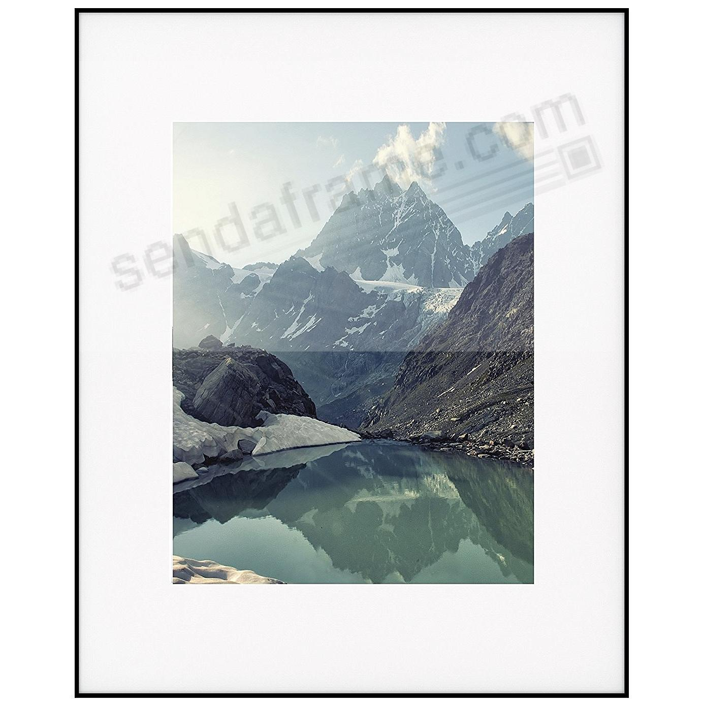 PHOTOGRAPHY Metallic frame Matte-Black/White Matted 16x20/11x14 by ARTCARE®