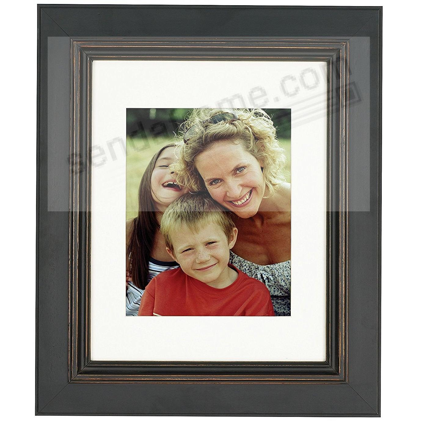 BLACK/brown PALLADIO matted wood frame for a 5x7 / 8x10 print from ARTCARE® by Nielsen®