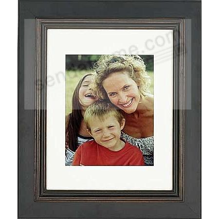 PALLADIO BLACK/Brown Wood frame Matted 11x14/8x10 by ARTCARE®