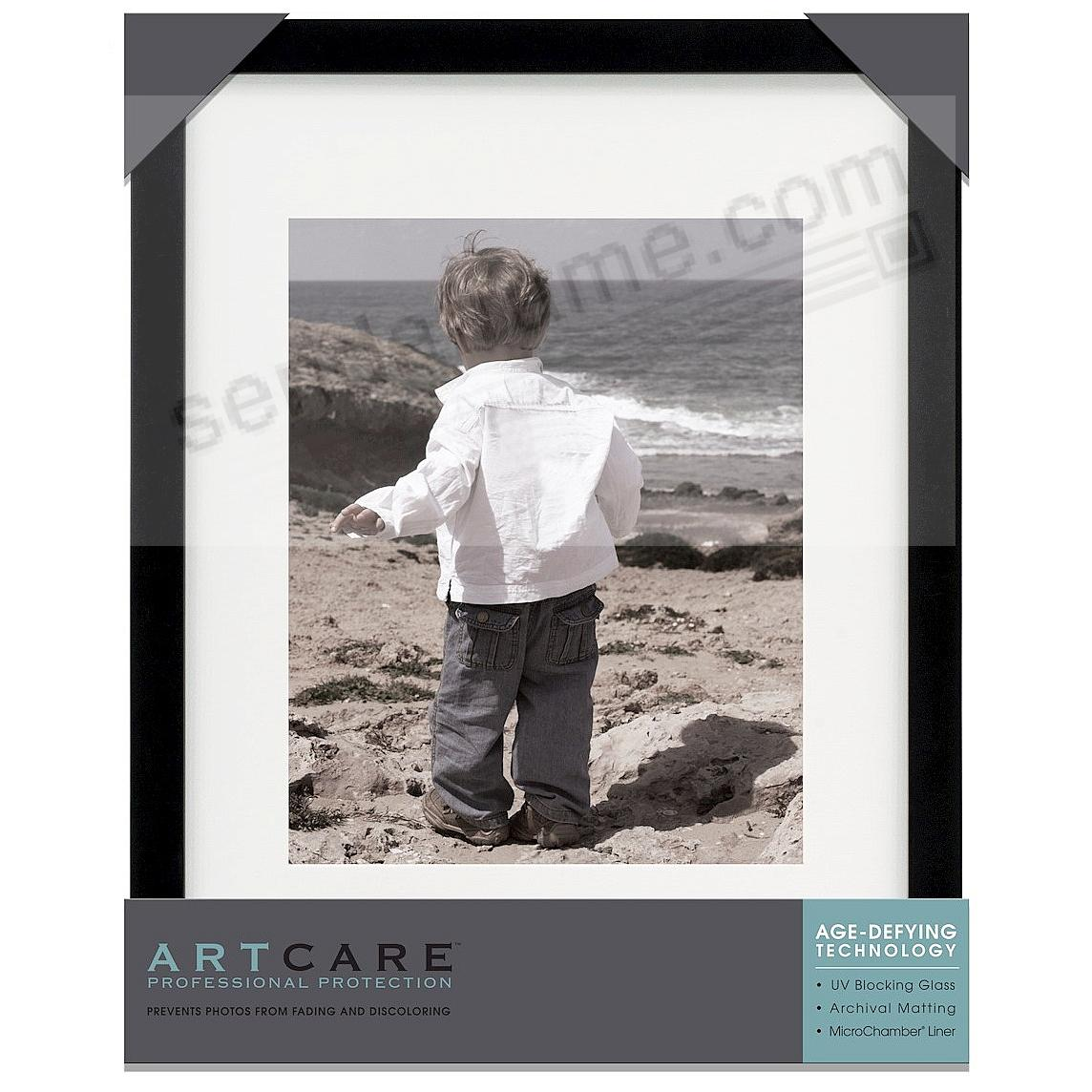 Matte-Black TRIBECA archival matted wood frame 11x14/8x10 by ARTCARE®