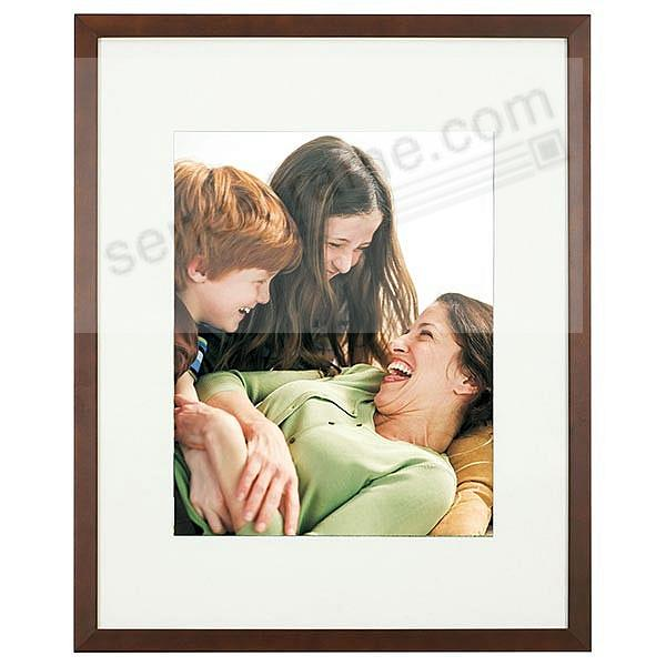 Walnut-Brown TRIBECA archival matted wood frame 11x14/8x10 by ARTCARE®