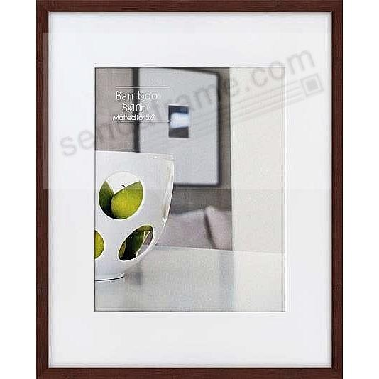 CONTEMPORARY Bamboo Mocha-Brown stain matted 8x10/5x7 frame by EcoCare®