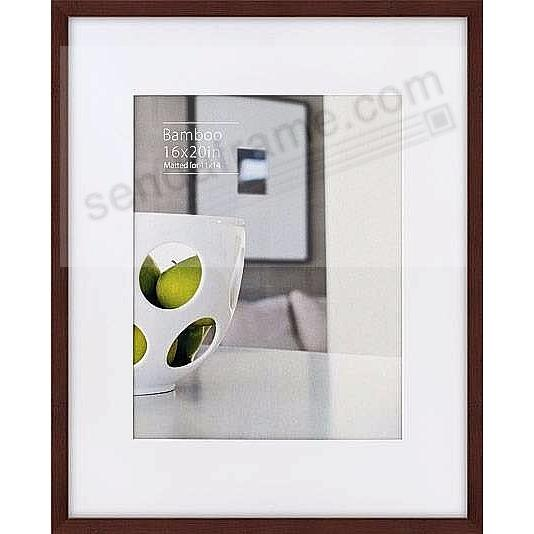 CONTEMPORARY Bamboo Mocha-Brown-Stain Matted 16x20/11x14 frame by ...