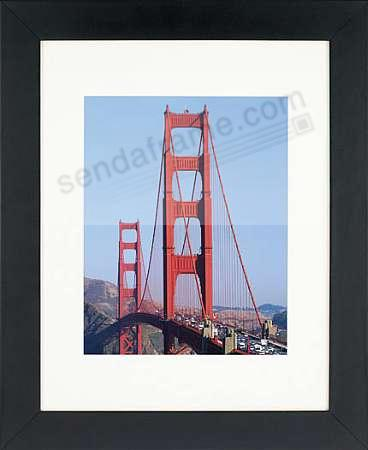 Matte-Black WOODBURY matted wood frame 8x10/5x7 from ARTCARE® by Nielsen®