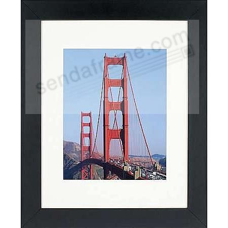 Matte-Black WOODBURY matted wood frame 11x14/8x10 from ARTCARE® by ...