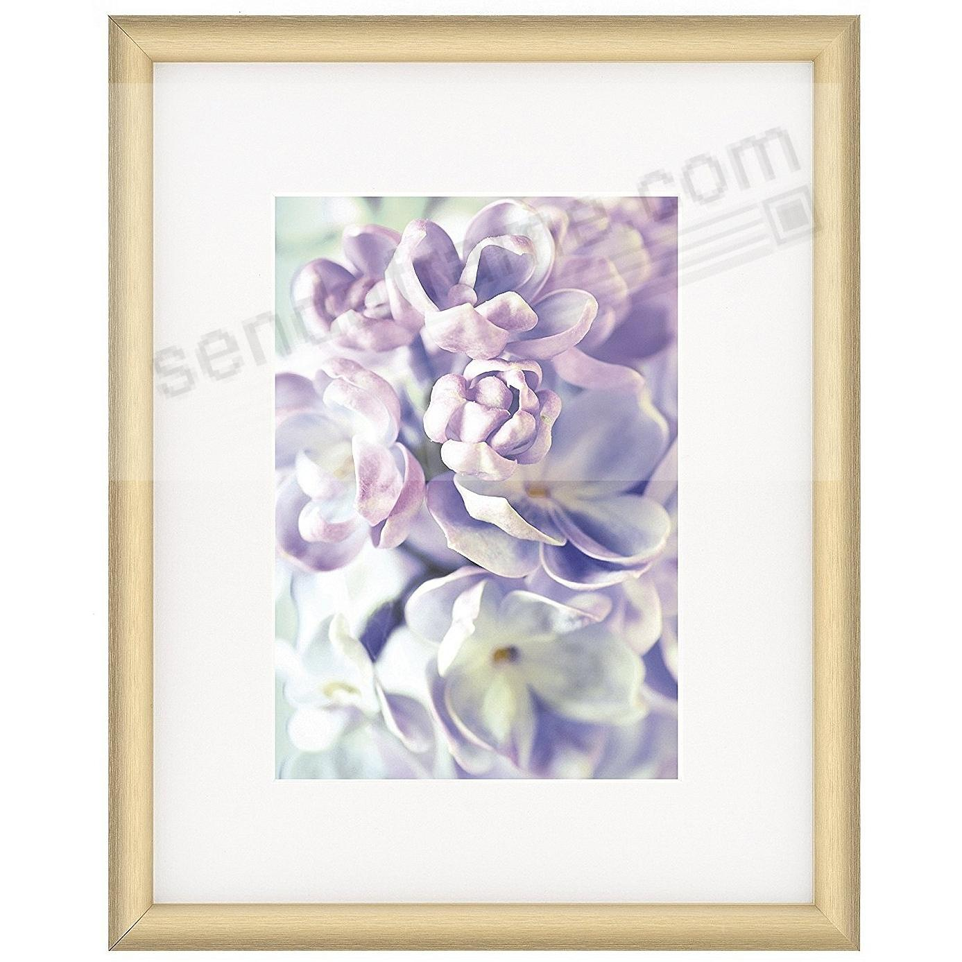 Satin-Gold COSMOPOLITAN matted metallic frame 5x7/8x10 from ARTCARE® by Nielsen®