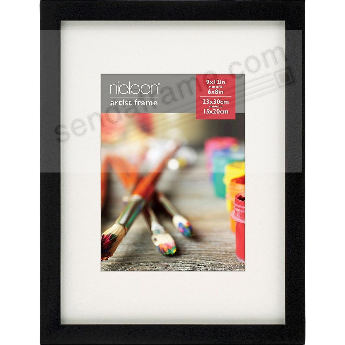 Matte-Black GALLERY-CANVAS DEPTH matted wood frame 6x8/9x12 by ...
