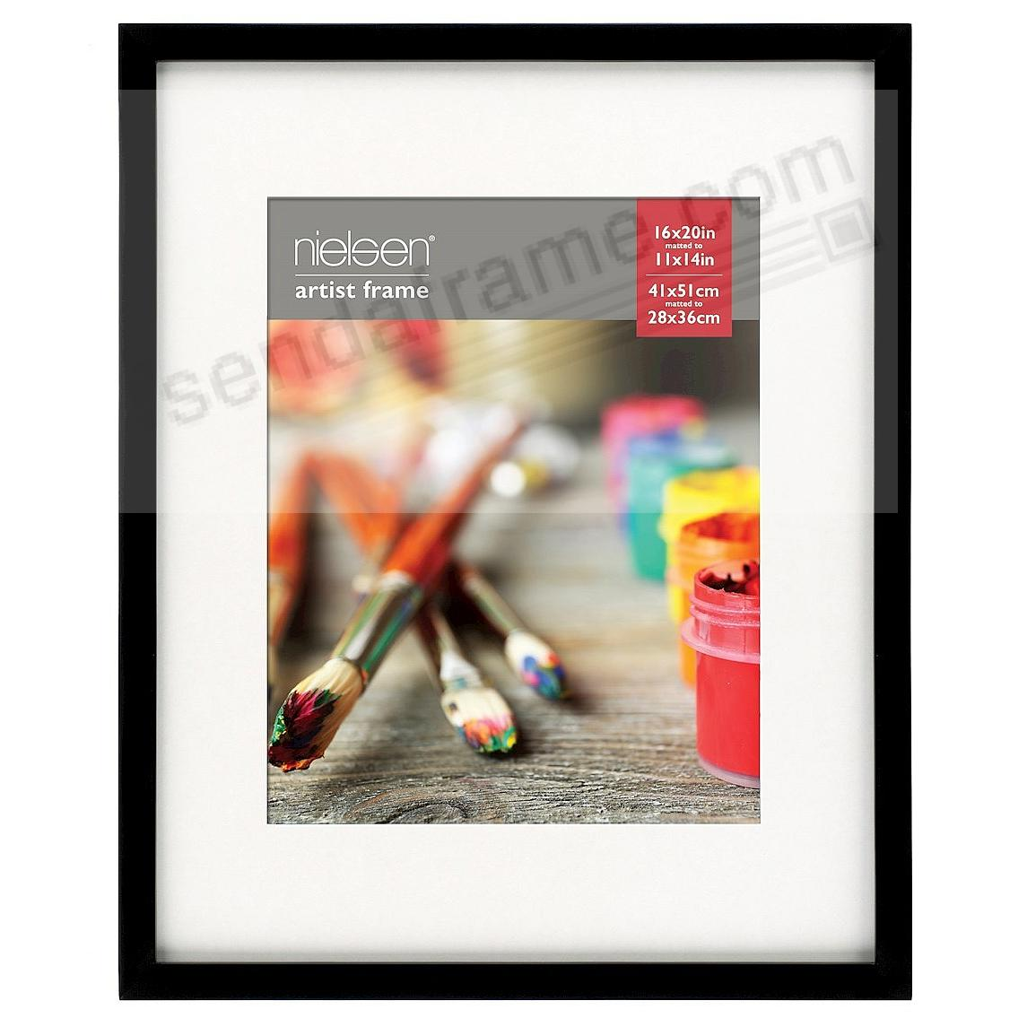 Matte-Black GALLERY-CANVAS DEPTH matted wood frame 11x14/16x20 by Nielsen-Bainbridge®