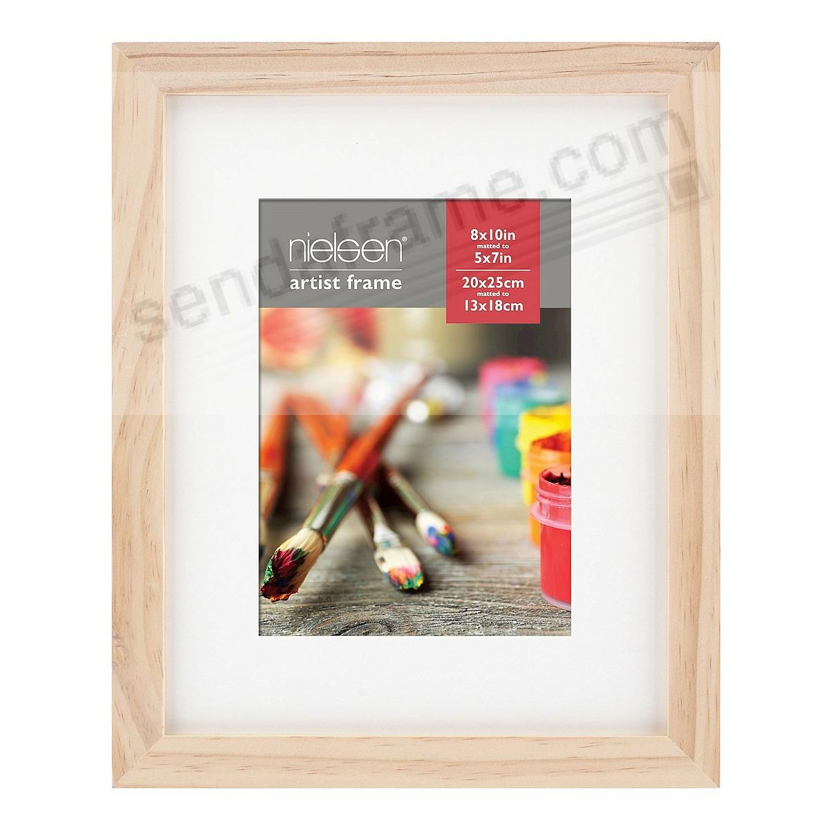 Ash Natural GALLERY-CANVAS DEPTH matted wood frame 8x10/5x7 by Nielsen-Bainbridge®