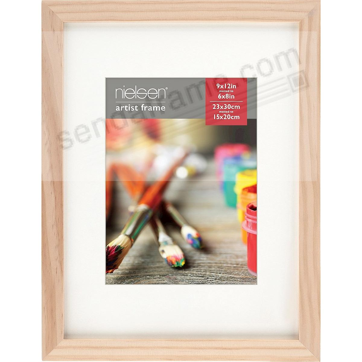 Ash Natural GALLERY-CANVAS DEPTH matted wood frame 9x12/6x8 by Nielsen-Bainbridge®