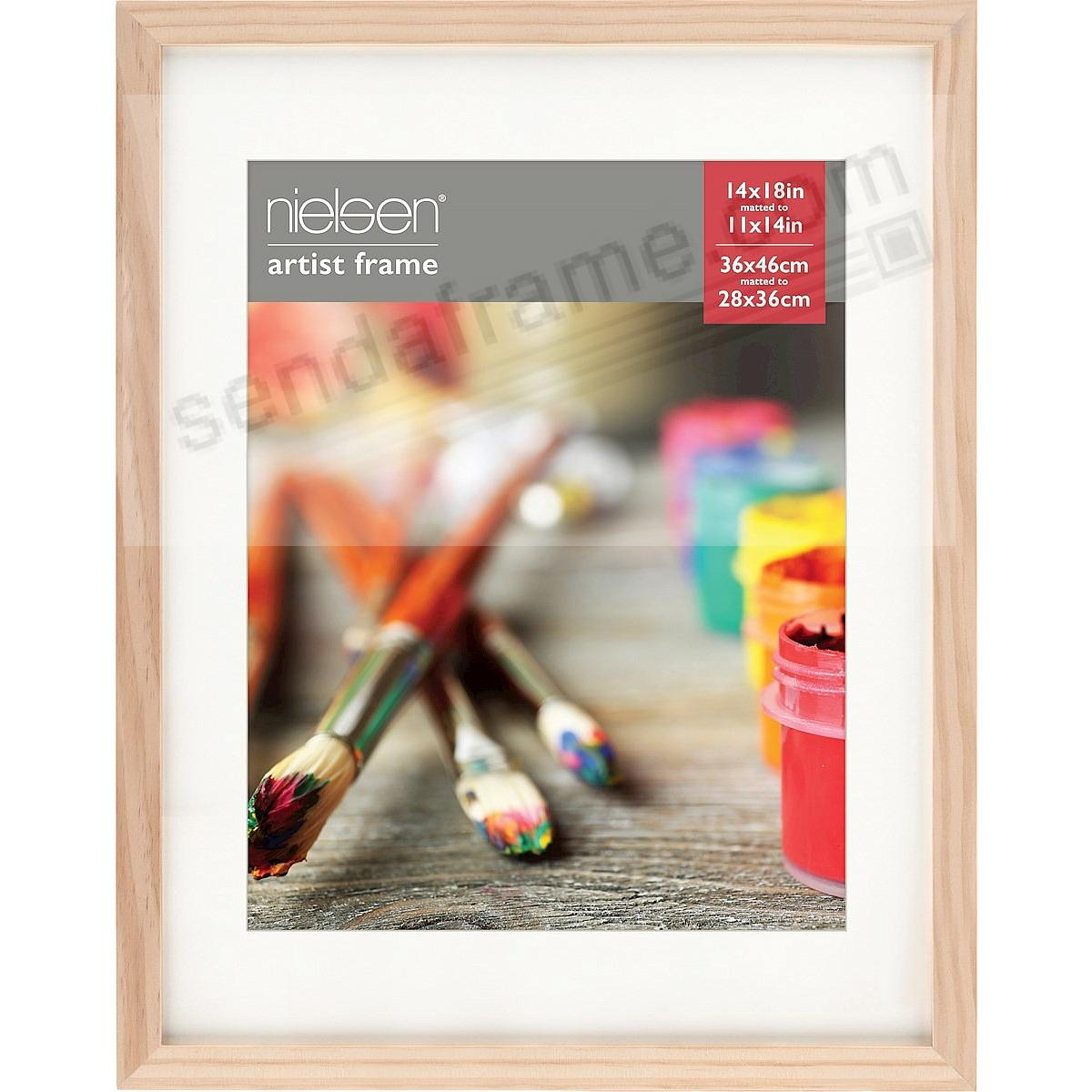 Ash Natural GALLERY-CANVAS DEPTH matted wood frame 14x18/11x14 by Nielsen-Bainbridge®