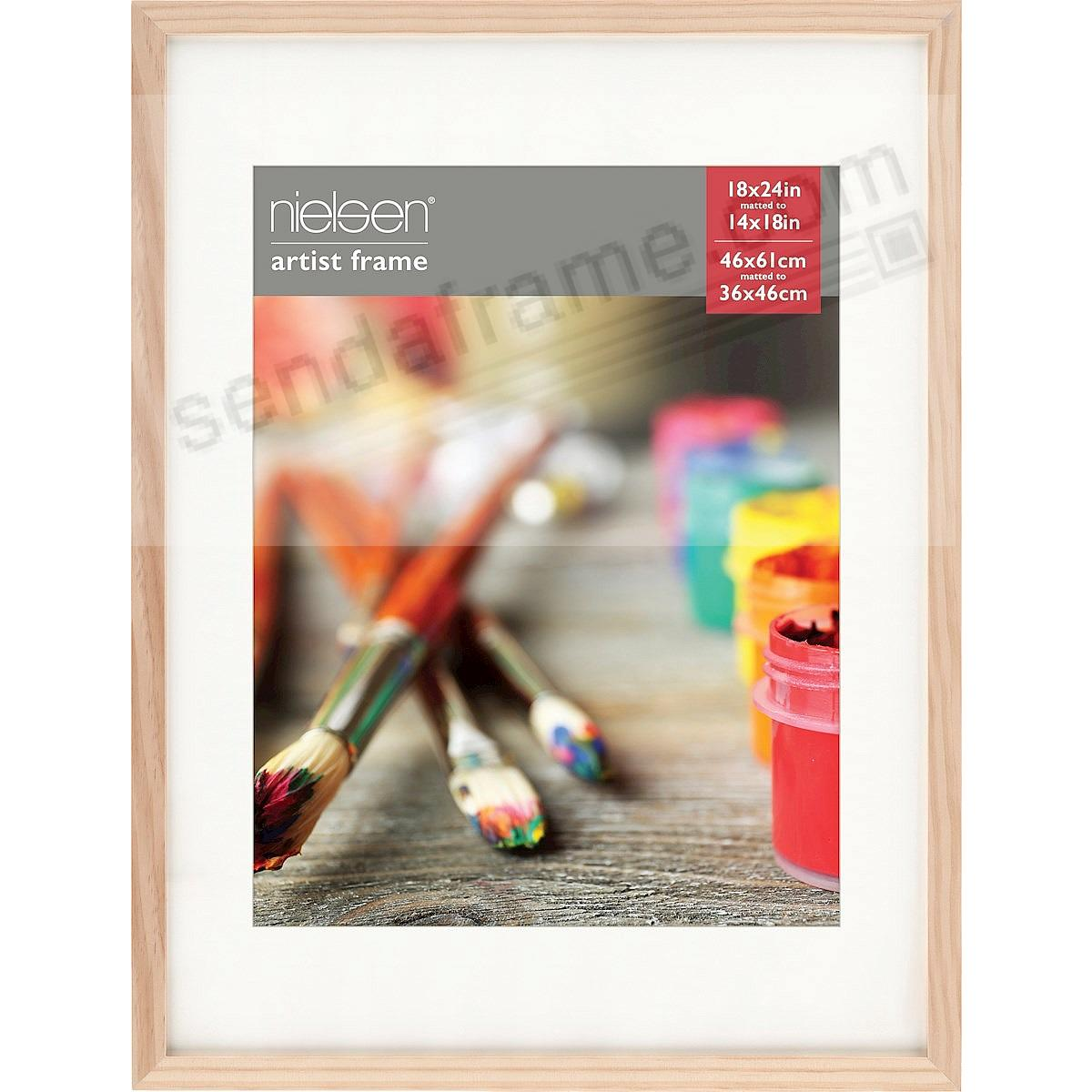 Ash Natural GALLERY-CANVAS DEPTH matted wood frame 18x24/14x18 by Nielsen-Bainbridge®