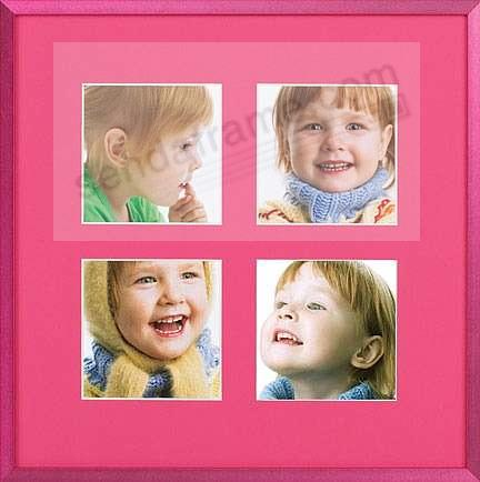 VIVIDS RASPBERRY FIZZ metal frame collage<br>displays (4) prints 4x4 by Nielsen&reg;