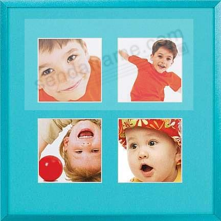 VIVIDS Turquoise satin finish metal collage<br>displays (4) prints 4x4 by Nielsen&reg;