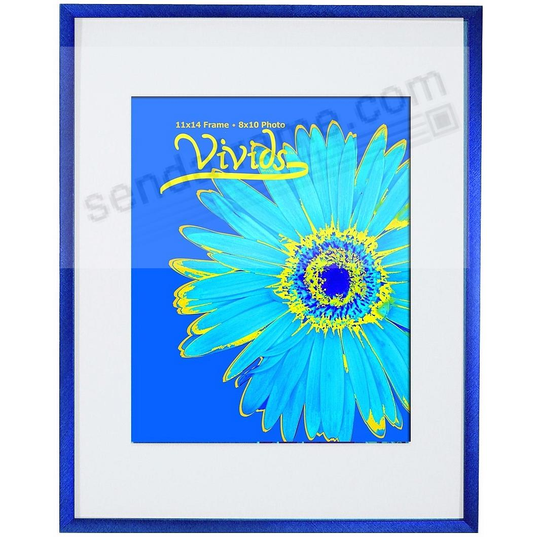 VIVIDS® bold Galactic Blue metallic frame matted 11x14/8x10 by ...