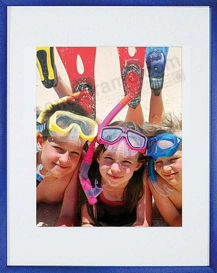 VIVIDS® bold Galactic-Blue metallic frame matted 16x20/11x14 by Nielsen®