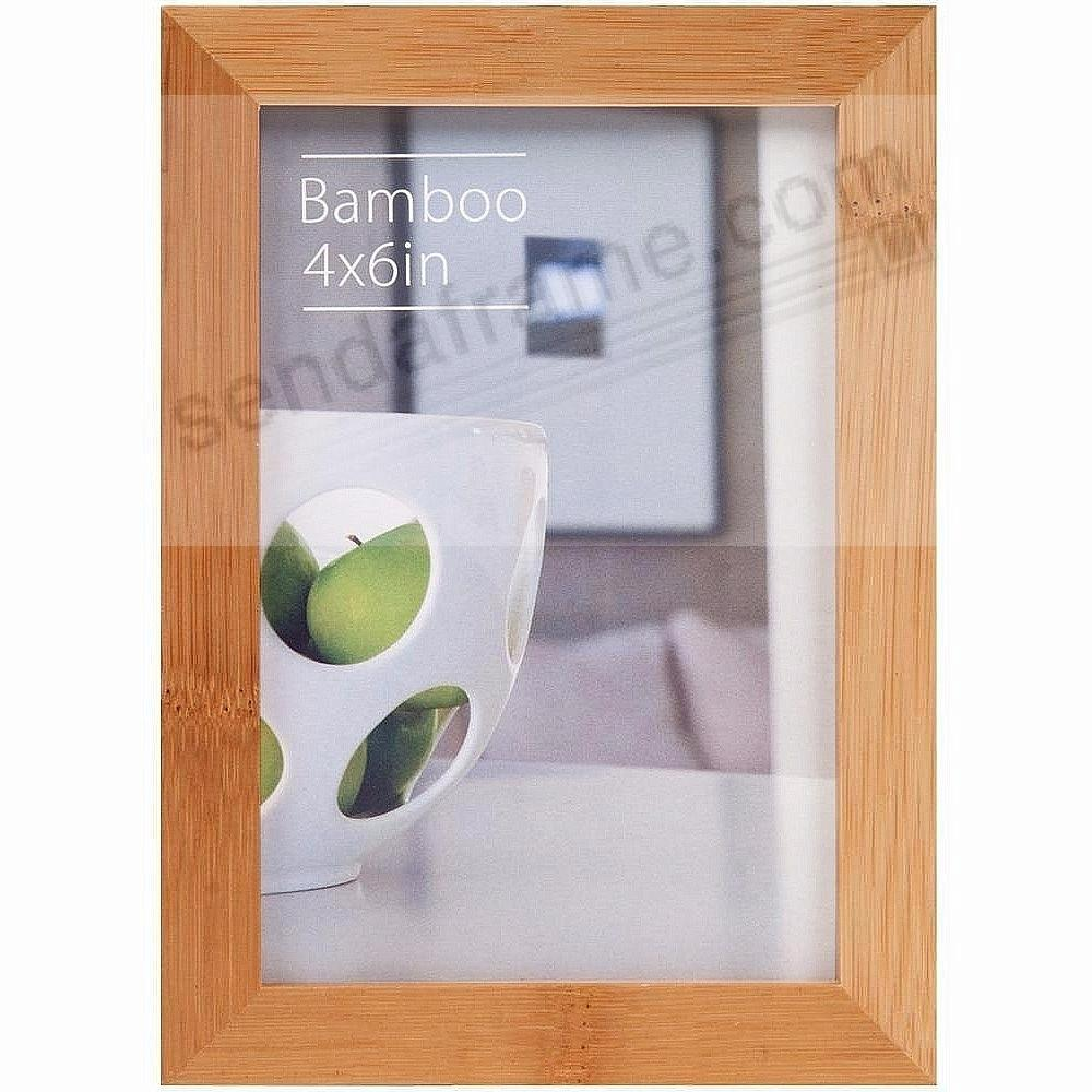 CONTEMPORARY Bamboo Natural-stain 4x6 frame by EcoCare®
