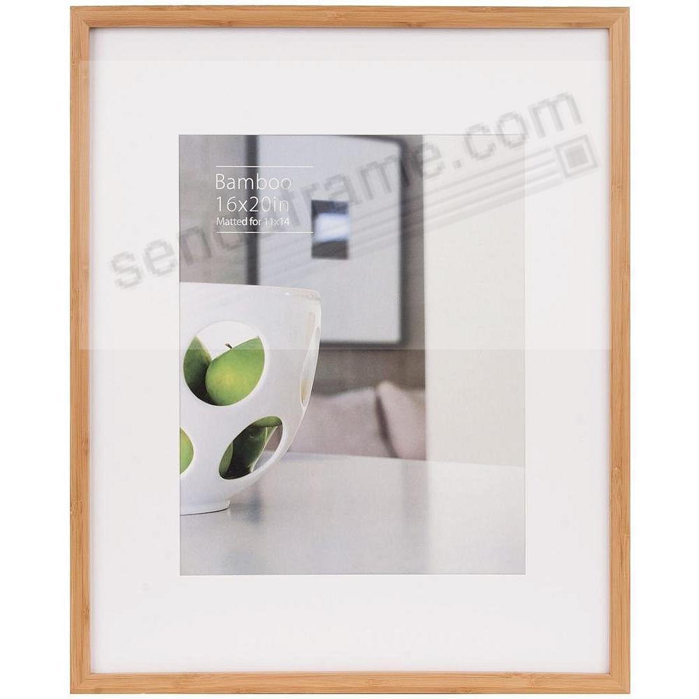 CONTEMPORARY Bamboo Natural-stain matted 16x20/11x14 frame by EcoCare®
