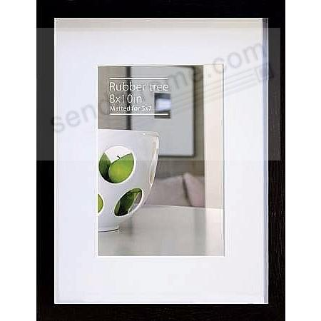 CONTEMPORARY Rubberwood Black Matted 8x10/5x7 frame by EcoCare®