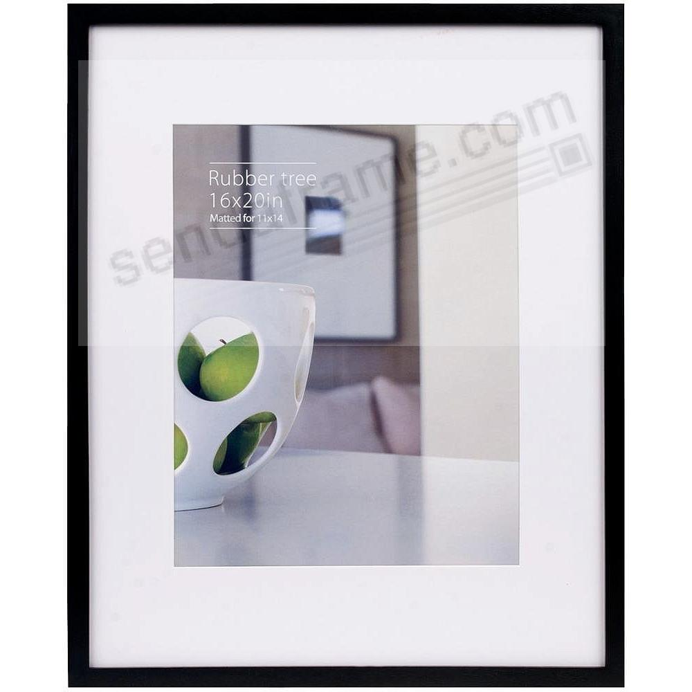 CONTEMPORARY Rubberwood Black matted 16x20/11x14 frame by EcoCare®