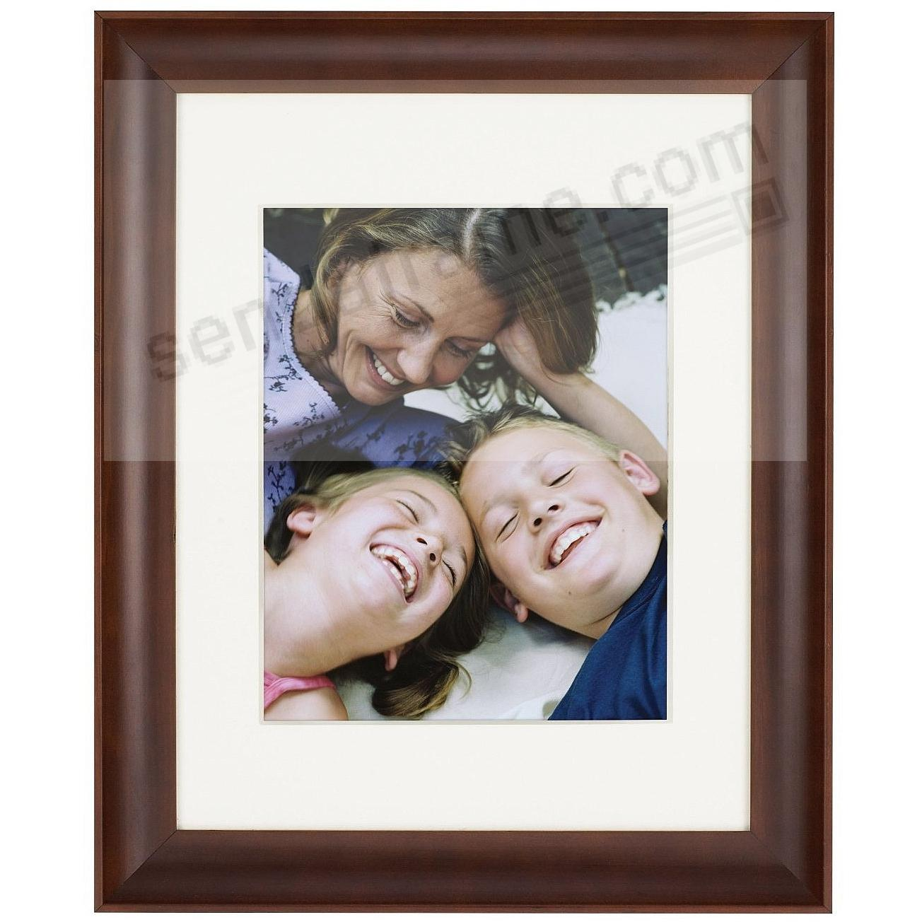 walnut family matted scoop profile wood frame 8x10 11x14 from