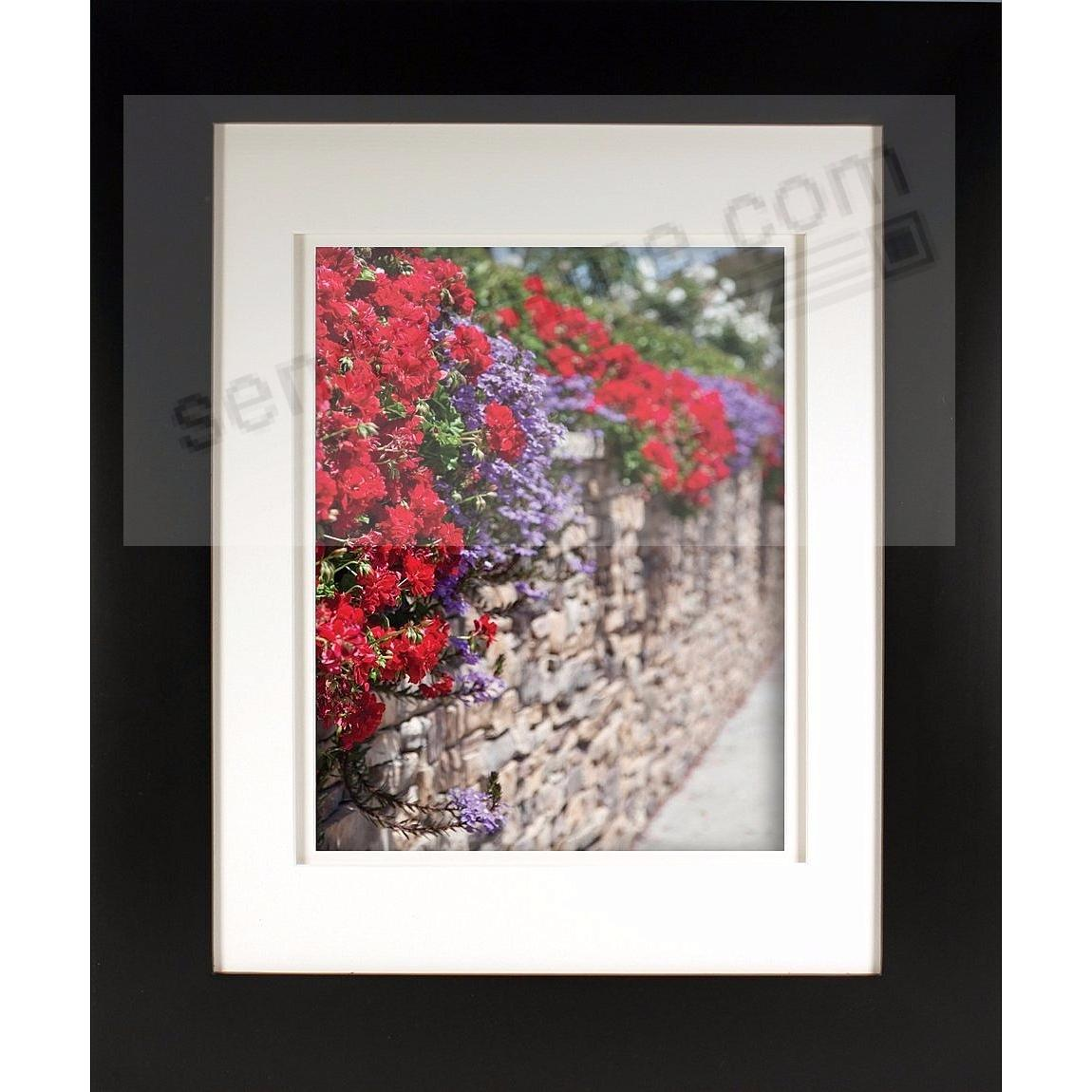 Matte-Black MESA Wood frame matted 8x10/5x7 from ARTCARE® by Nielsen®