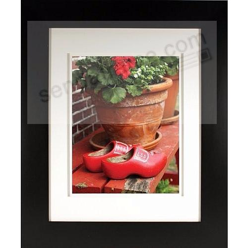 Matte-Black MESA Angled Wood frame Matted 11x14/8x10 from ARTCARE® by Nielsen®