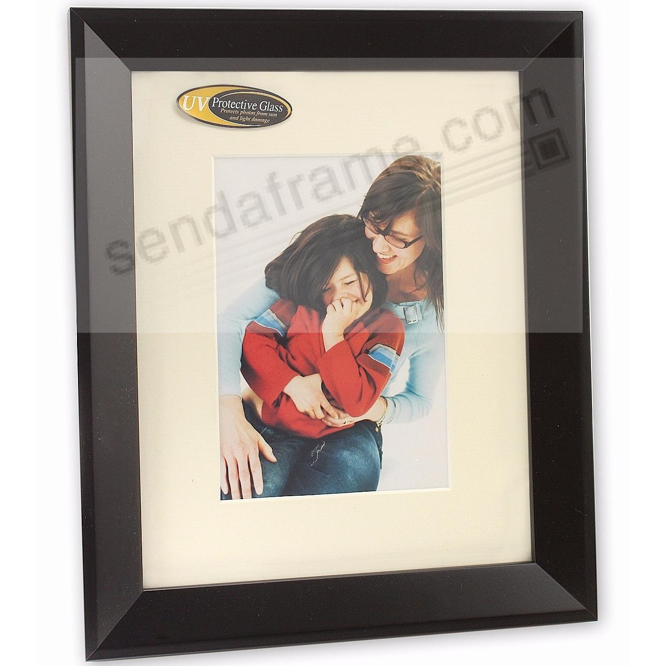 MONARCH matted Matte-Black wood frame 11x14/8x10 from ARTCARE® by Nielsen®