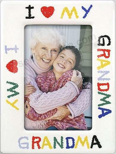 I LOVE GRANDMA drawing frame - Picture Frames, Photo Albums ...