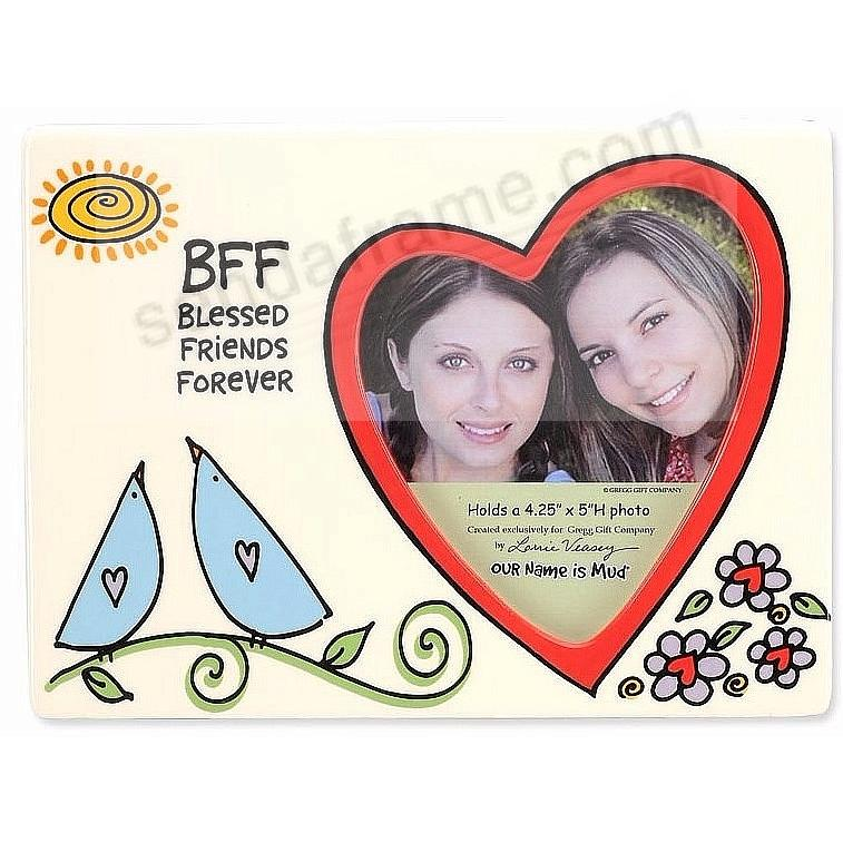 BFF BLESSED FRIENDS FOREVER colorful ceramic frame by Our Name is ...