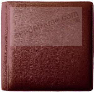 ROMA RED fine-grain leather #105F album with back/front  8x10 pages by Raika®