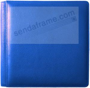 RODEO BLUE fine-grain leather #105F album with back/front pages by Raika®