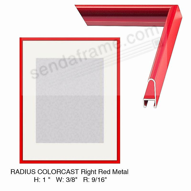 Custom-Cut™ Radius Colorcast RIGHT RED Metal H:1  W:3/8  R:9/16