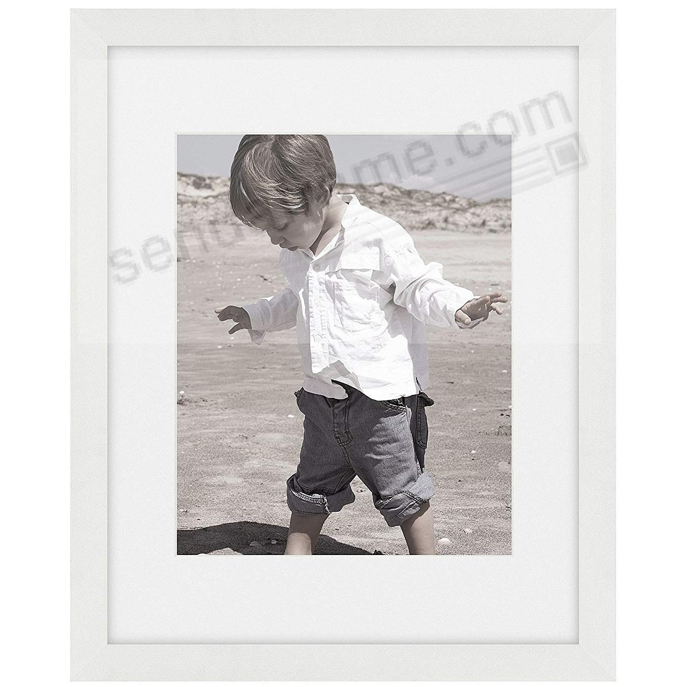 Matte-White TRIBECA Archival 8x10/5x7 Matted Wood frame by ARTCARE®