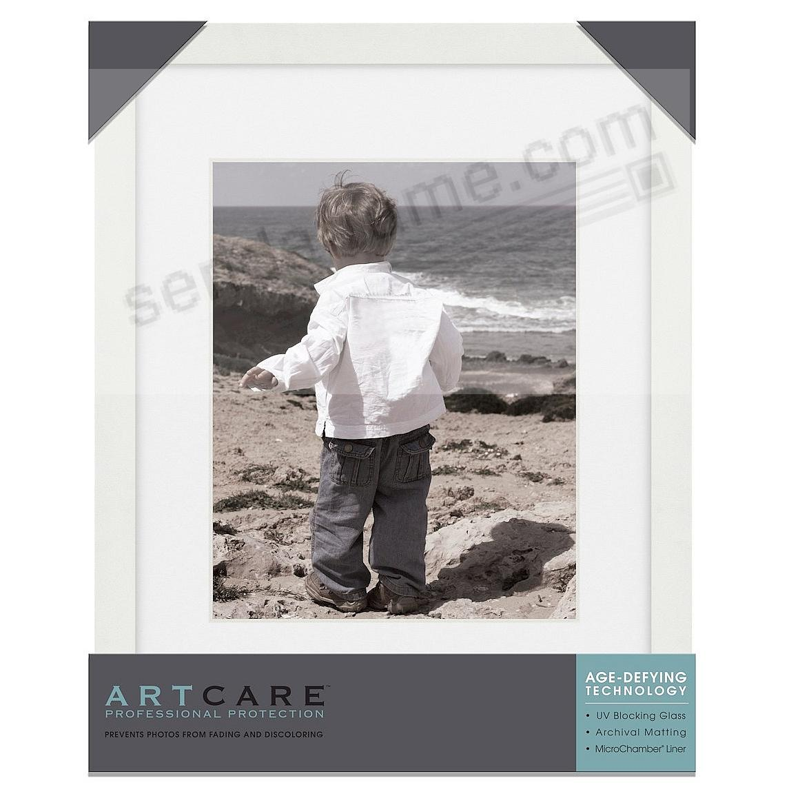 Matte-White TRIBECA archival 11x14/8x10/ matted wood frame from ...