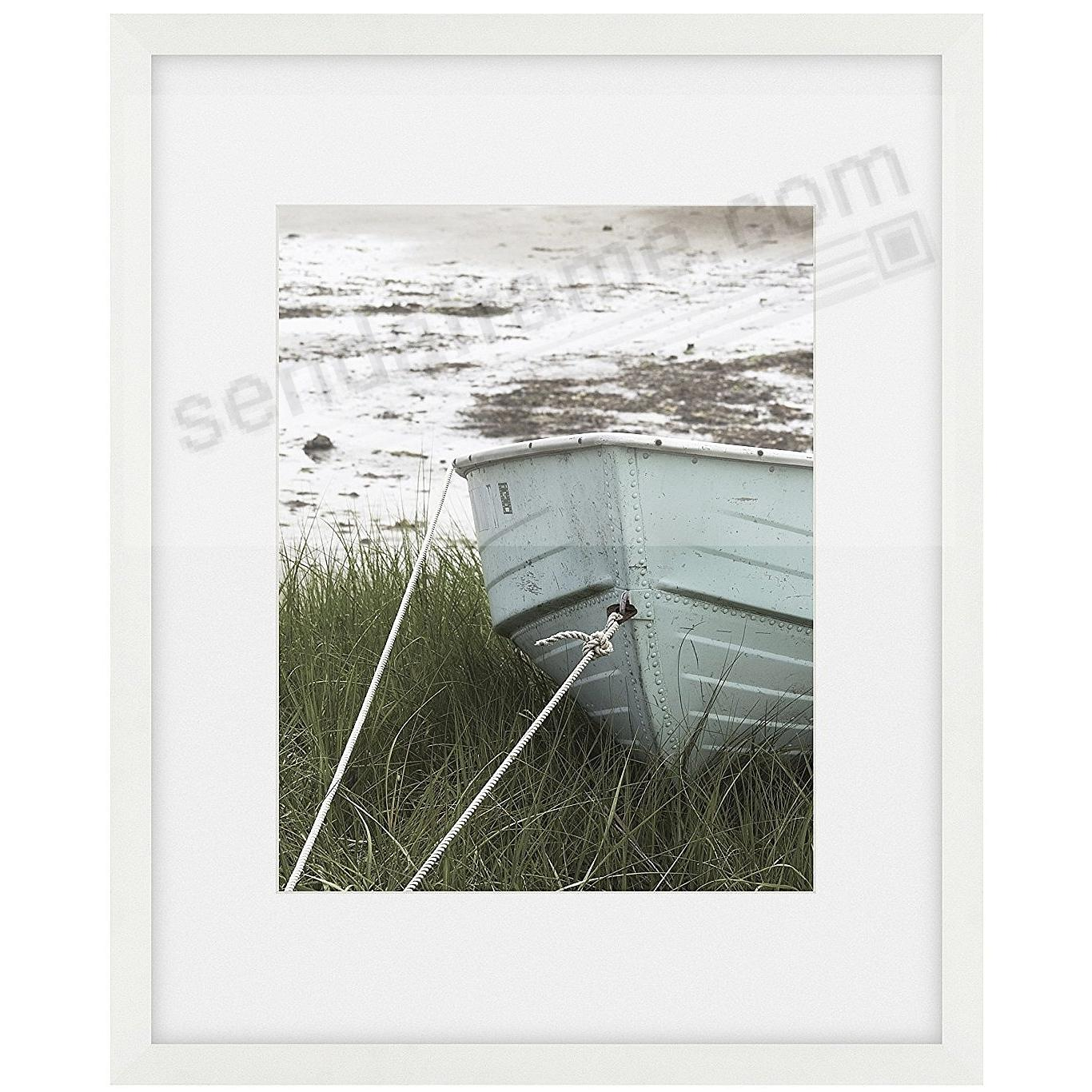 Matte-White TRIBECA archival 16x20/11x14 matted wood frame by ARTCARE®