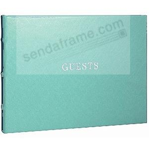 Eco-leather AQUA Guest Book for a lasting record by Graphic Image®