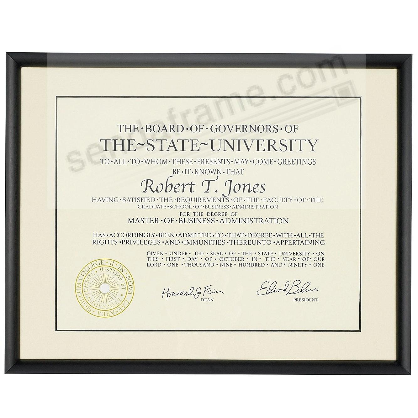 Satin-Black COSMOPOLITAN matted metallic frame 11x8½ / 14x11 from ARTCARE® by Nielsen®